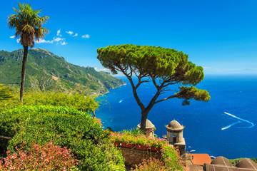 The famous garden of Villa Rufolo,Ravello,Amalfi coast,Italy