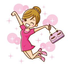 女性 ジャンプ