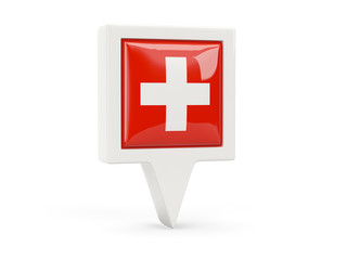 Square flag icon of switzerland
