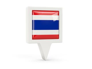 Square flag icon of thailand