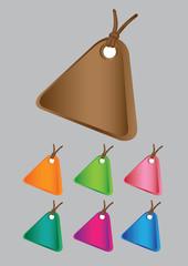 Colorful labels, tags, mark, necklances