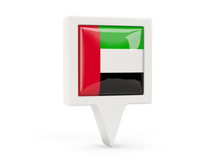 Square flag icon of united arab emirates