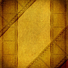 grunge background with film flame