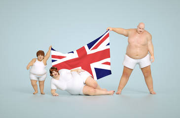 United kingdom obesity concept