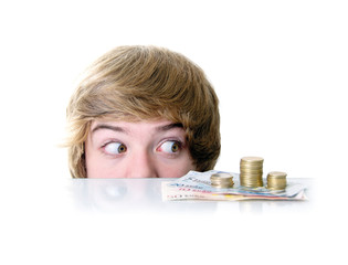 Teenager mit Geld
