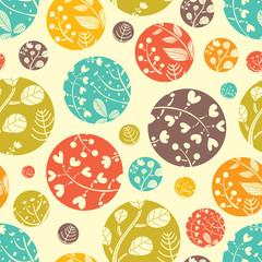 Autumn motive. Vector seamless pattern.