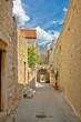 Old stone narrow street of Hvar