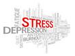 """STRESS"" Tag Cloud (workplace anxiety depression insomnia)"