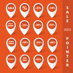 Big Sale Pointer Orange Background