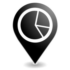 statistiques sur symbole localisation noir