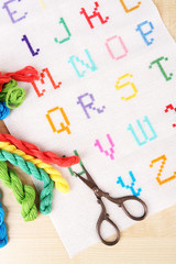 Handmade embroidered letters
