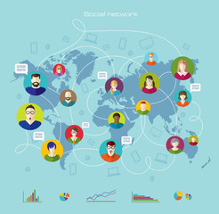 Global communication. Internet. Infographics.