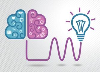 Light bulb idea concept. Thinking.