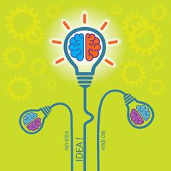Birth of IDEA. Concept background.