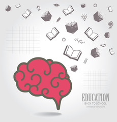 Education abstract conceptual background.