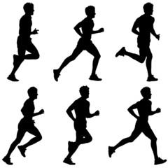 Runners on sprint, men.