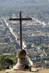 Cross on the hill in Antigua