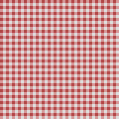 Seamless checkered Gingham pattern - Red and White
