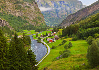 Village in Flam - Norway