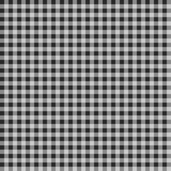 Seamless checkered Gingham pattern - Black and White