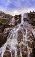 Waterfall in fjord Lysefjord - Norway