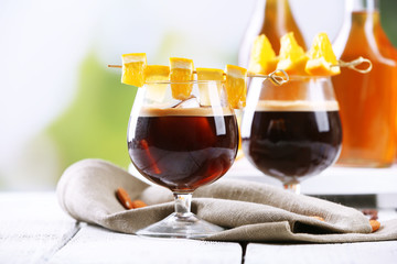 Espresso cocktail served on table