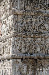 Greece, Thessaloniki. Fragment of the bas-relief of arch of Gall