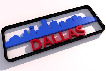 Dallas base colors of the flag of the city 3D design