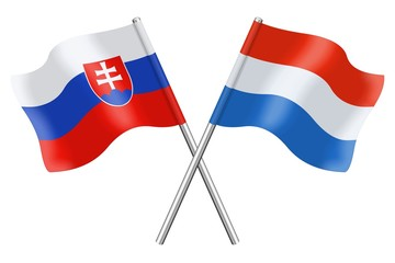 Flags : Slovakia and Luxembourg