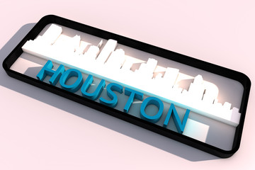 Houston base colors of the flag of the city 3D design