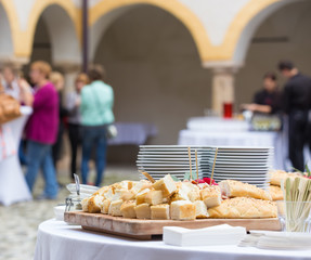 Catering at the business event.