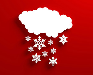 Snow cloud christmas red