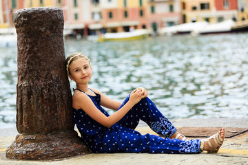 Portofino, Italy - Portrait of fashion girl
