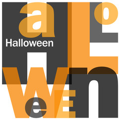 HALLOWEEN Letter Collage (pumpkin witch scary trick treat)