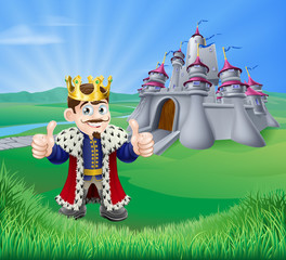 Cartoon King and Castle