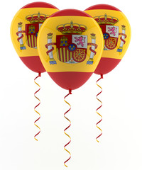 Spanish flag balloon