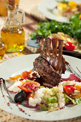 Lamb Chops with Risotto