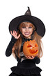Little girl in halloween costume