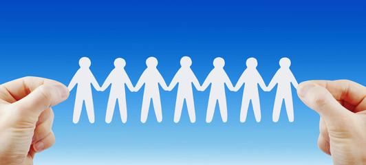 People team in hands