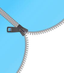 Zipper vector background blue
