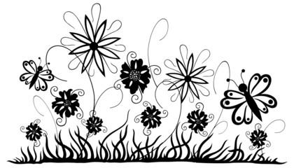 Blumenwiese, Sommer, Blumen