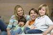 canvas print picture - Family Portrait,lächelnd
