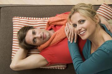 Portrait eines jungen Paares,erhöhte Ansicht