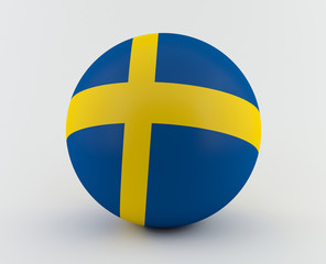 Swedish flag on 3D sphere