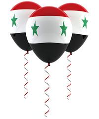 Syrian flag balloon