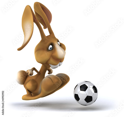 canvas print picture Fun rabbit