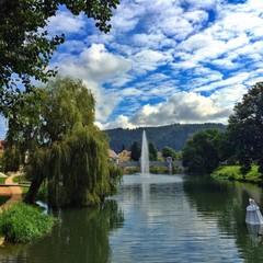 Wasserspiele in Tuttlingen an der Donau