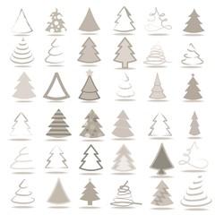 Set mit 36 Bäumen