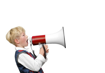 Boy with Megaphone