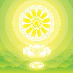 buddha,lotus,wheel of life,intuit